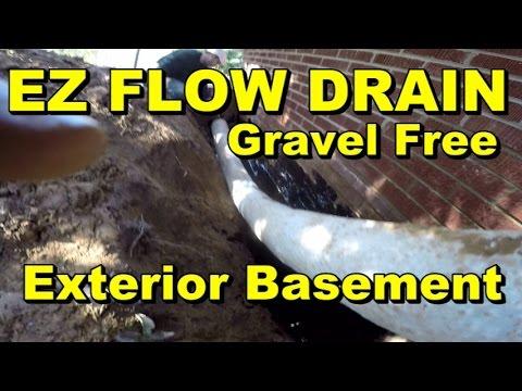 Ez Flow Drain Exterior Basement Waterproofing How To For