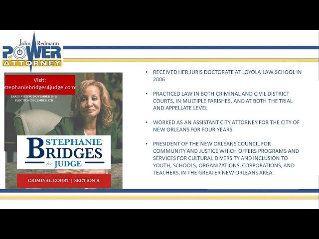 John Redmann: Power of Attorney- Interview with Stephanie Bridges