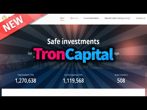 New project on blockchain TRON | Review TRON Capital