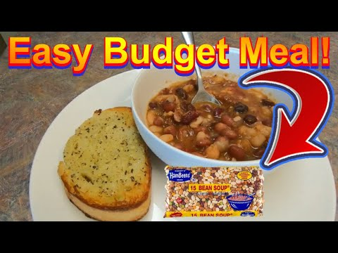 15 Bean Crock Pot Soup Budget Meal Recipe/ Cook With Me And Feed A Family Of 5 0n $10 Or Less