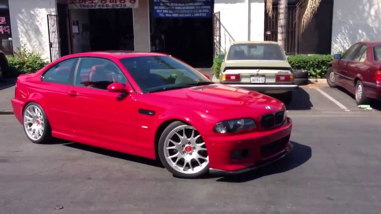 Imola Red Bmw E46 M3 On Bbs Ch Youtube
