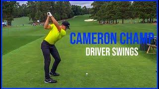 Watch Cameron Champ Powerful Driver Swings