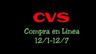 CVS COMPRA EN LINEA 12/1-12/7|Randee Saves