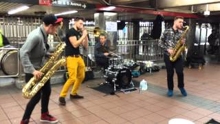 "Lucky Chops ""Chameleon"" NYC subway - 12/9/2014"
