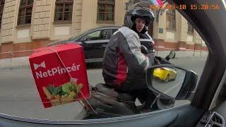 Garázda Netpincér motoros futár Budapesten (2021.03.10 15:15 Fő utca) 1. rész screenshot 5