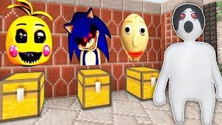 КАКОЙ СТРАШНЫЙ СУНДУК СЛЕНДЕРИНА ПЛАСТИЛИНОВЫЙ ЧЕЛОВЕЧЕК ВЫБЕРЕТ? Балди, Чика фнаф и Sonic.exe
