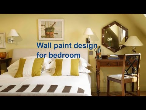 wall paint designs for bedroom