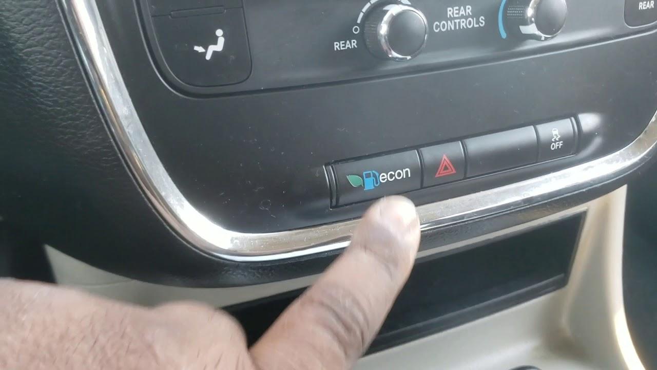 dodge grand caravan econ button ECON BUTTON - YouTube