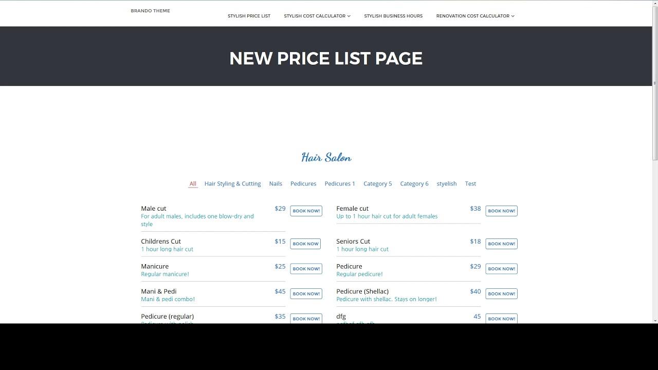 Basic Elements Explained   Stylish Cost Calculator   WordPress