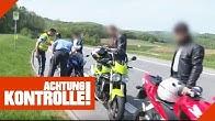 Zu schnell gefahren: Rasant fahrende Motorradgruppe wird angehalten   Achtung Kontrolle   Kabel Eins