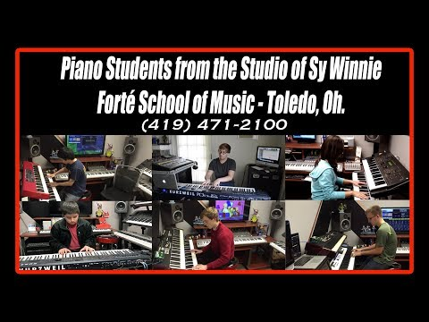 Piano students of Sy Winnie - Forte Music School - Toledo, Ohio