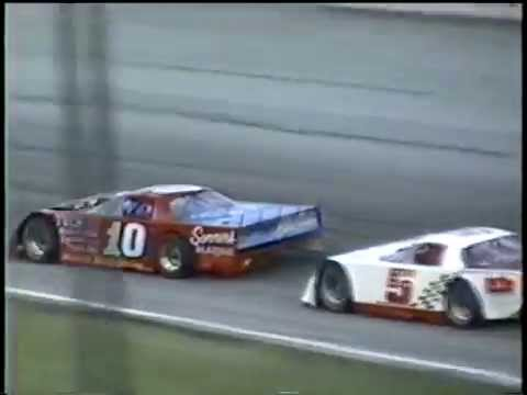 Stock Car Crash - 2000 Glass City 200 - Jay Sommers crashes while leading late