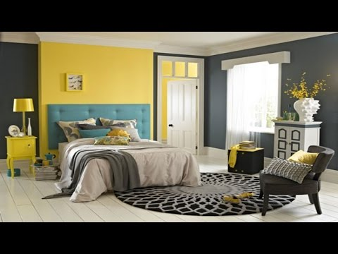 Stunning Bedroom Decorating Ideas In Gray And Yellow