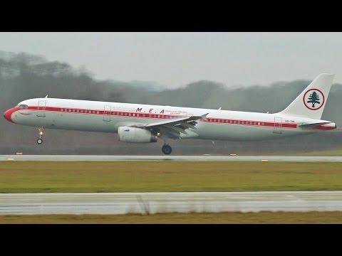 "[FullHD] MEA ""Retro"" Airbus A321 landing & takeoff at Geneva/GVA/LSGG"