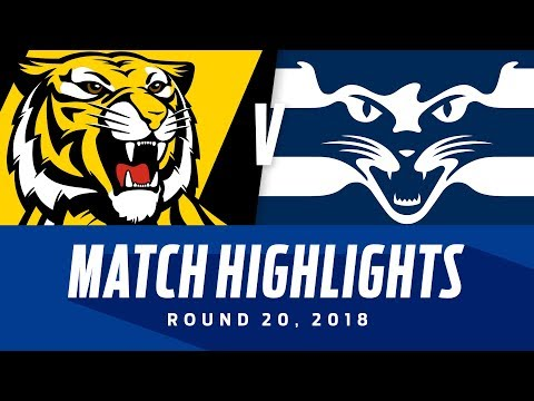 Richmond v Geelong Highlights | Round 20, 2018 | AFL
