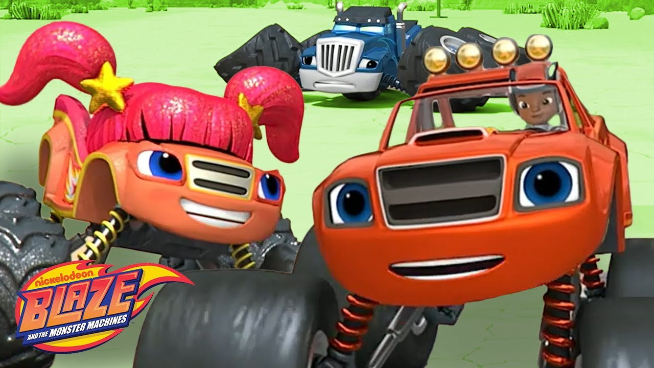 Download Blaze's Family Beats Crusher in Race w/ Blazing Speed! | Blaze and the Monster Machines