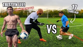 I Challenged The World's STRONGEST Kid Footballer (Tristyn Lee) To A Football Competition