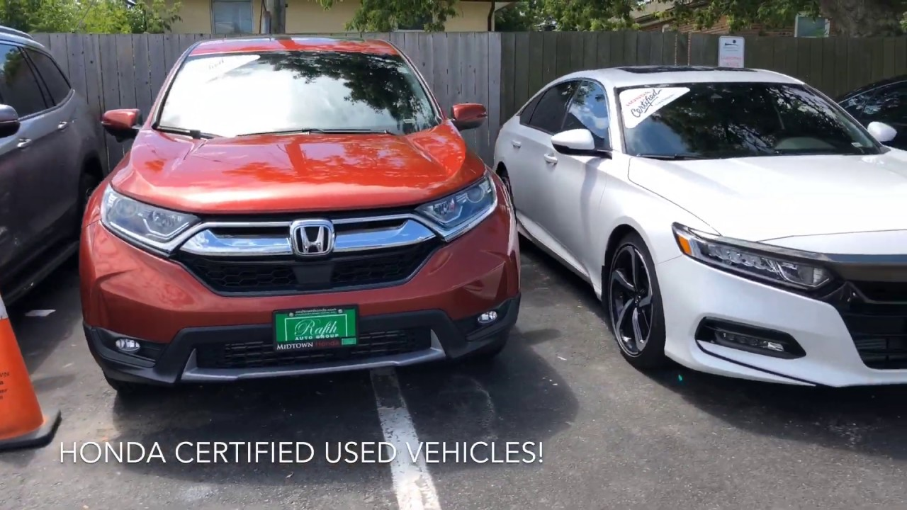 Honda Certified Used Cars >> Our Honda Certified Used Cars Lineup