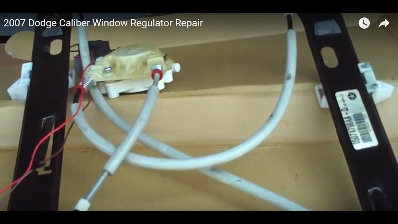 2007 Dodge Caliber Manual Window Diagram Sxt Fuse Regulator Repair Youtube Rh Com Oil Light Fuel System