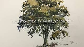 Towncrafting Workout 02 - Watercolor Elm Tree