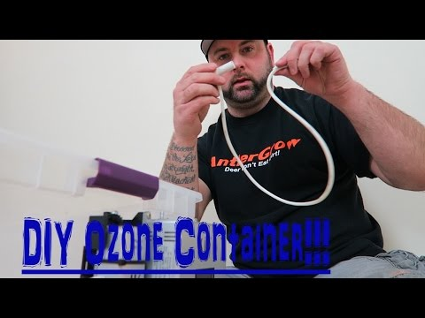 STAYING SCENT FREE WITH OZONE (DIY) OZONE CONTAINER!!!