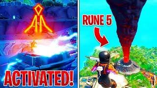 Fortnite 5TH RUNE ACTIVATED! - Volcano Erupted! (Fortnite Battle Royale)