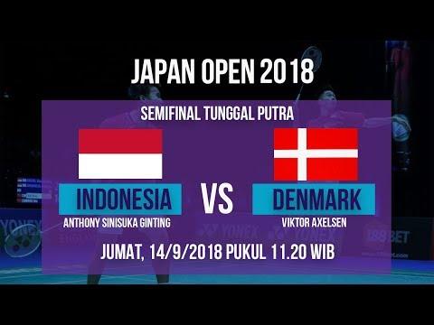 Jadwal Live Semifinal Laga Tunggal Putra Putra, Sinisuka Ginting Vs Denmark Di Japan Open 2018