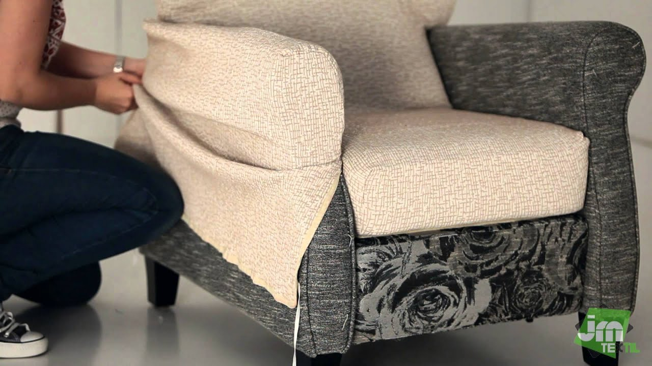 Funda de sill n relax youtube for Housse pour sofa