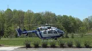 Virginia State Police Helicopter take off