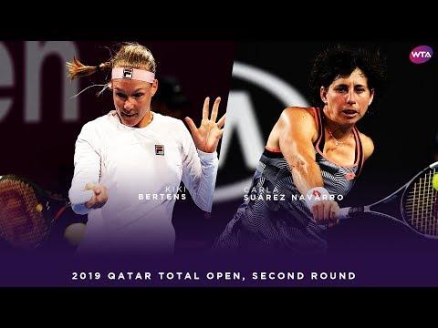 Kiki Bertens vs. Carla Suárez Navarro | 2019 Qatar Total Open | WTA Highlights