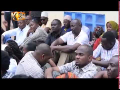 Health professionals from Kwale country storm out of a meeting with county officials