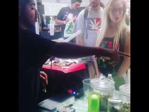 Grandma's Boy Cristian giving out Free Dabs at High Life Music Festival