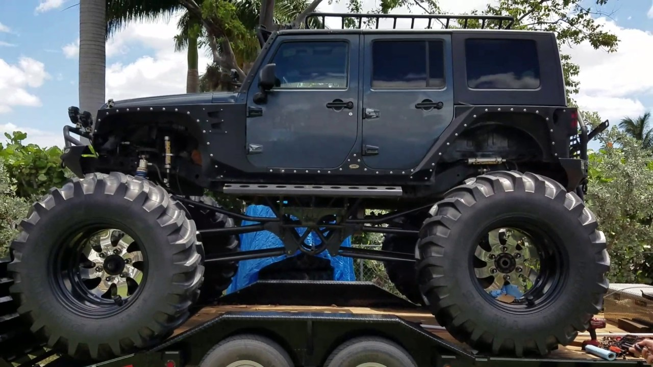 Off Road Jeep >> 2007 jeep wrangler monster truck lifted off road - YouTube