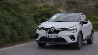 2019 New Renault CAPTUR tests drive in Greece Initiale Paris Version in Arctic White colour Driving