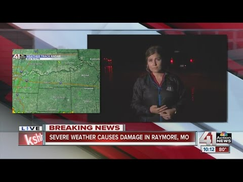 Flooding in Raymore following severe weather