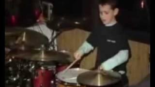 10 year old jazz drummer drum solo