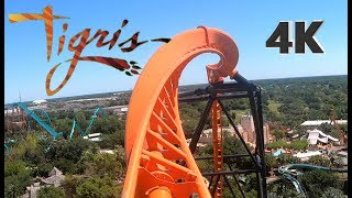 Tigris POV On Ride - NEW 2019 Busch Gardens Tampa - Front & Backwards
