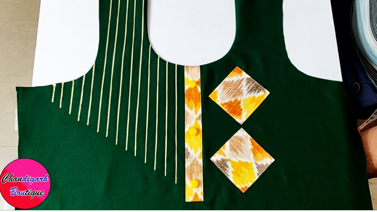 प्लेन कुर्ती में गजब का फ्रंट डिजाइन || Trendy front Kurti design Cutting And Stitching Easy Method