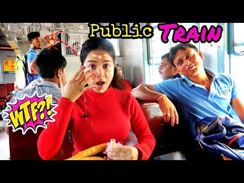 I did My Makeup on a *Local TRAIN* in Public | *shocked* reaction 😱😜 thumbnail