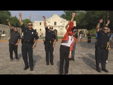 San Antonio Texas Police - New Running Man Challenge (funny)