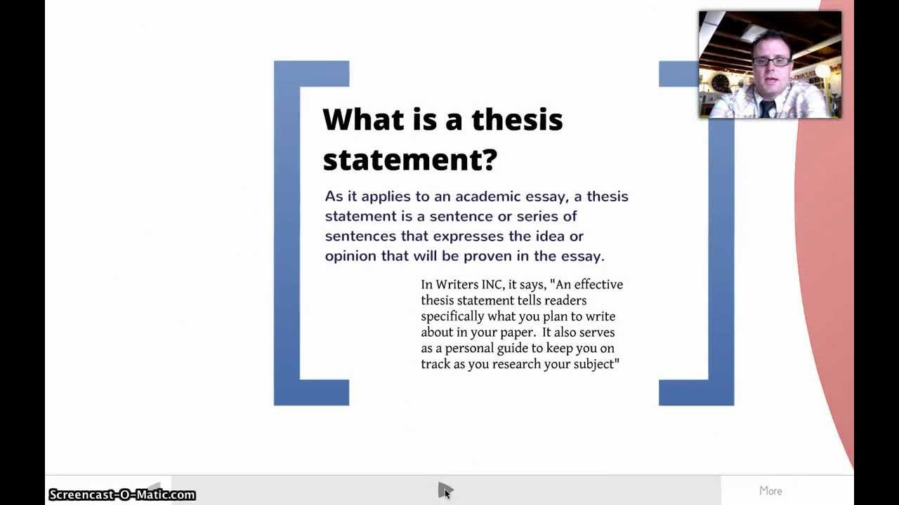 Thesis writer's block