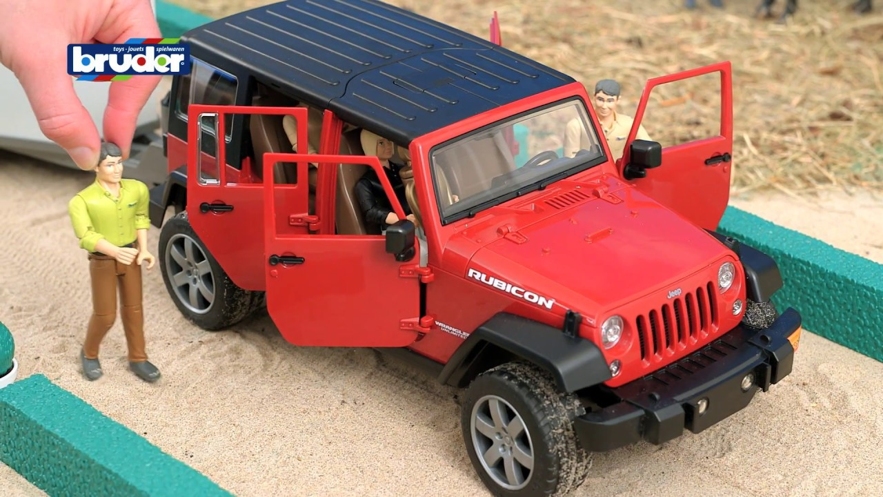 Bruder Toys Jeep Wrangler Unlimited Rubicon W Horse Trailer And 02926