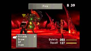 Final Fantasy VIII  (PC Game Edition Gameplay Footage)  Fire Cavern End Battle