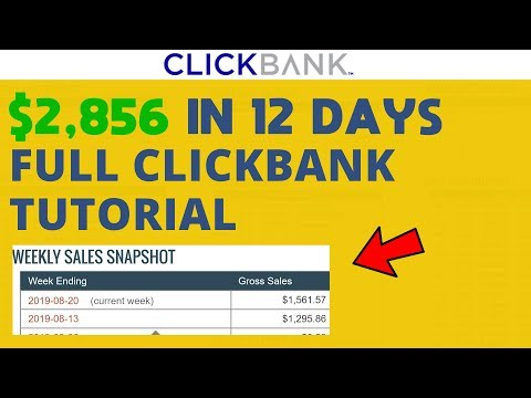 ClickBank Success Tutorial - $2,856 IN 12 DAYS (HOW TO COPY MY RESULTS)