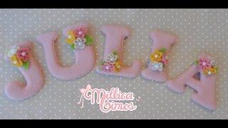 Letrinhas em feltro passo a passo por Millica Mimos
