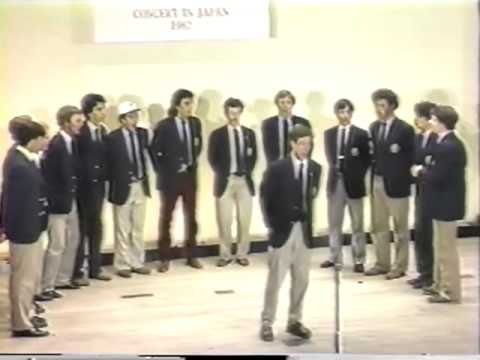 Yale Whiffenpoofs of 1982 Concert in Japan, Part 4 of 7