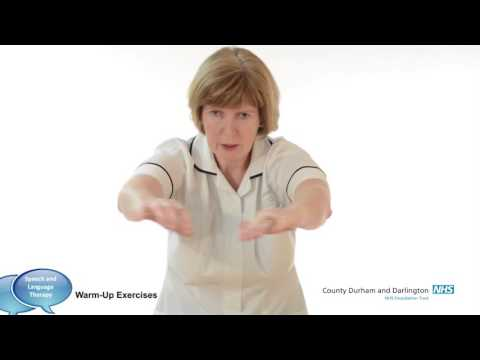 Adult Speech and Language Therapy -  Warm Up Exercises