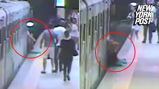 Woman dragged by train after getting bag caught in door | New York Post
