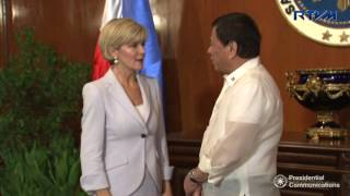 Courtesy Call of H. E. Julie Bishop, Minister for Foreign Affairs of the Commonwealth of Australia