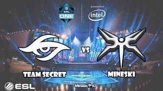[dota 2] Secret vs Mineski - ESL ONE KATOWICE- Lemon?? cupu sini by 1 CK midlane!!